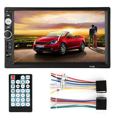Double 2DIN 7'' Car DVD MP5 Player Bluetooth Touch Screen In Dash Stereo Radio