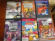 Lot Sony PlayStation 5 PS2 1 PS3 games 3 Guitar Hero,Nascar2005,Simpsons N4Speed