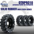 12x16.5 Sentry Tire Skid Steer Solid Tires 4 w/ Wheels for JOHN DEERE 12-16.5