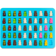 50 Cavity Chocolate Ice Tray Bear Silicone Maker Candy Mold Gummy Jelly Dropper