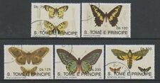 Butterflies Used Sao Tomean Stamps