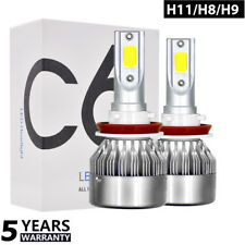 1X H11 H8 H9 LED Headlight Kit Bulb White 50W 8000LM 6000K Light High Low Beam