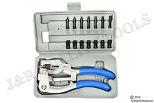 New Power Hole Punch Kit - Sheet Metal - Hand Tool Set HEAVY DUTY