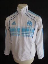 Veste de football OM Marseille vintage Adidas Blanc Taille 14 ans