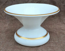 French White Gold Opaline Glass Tobacco Spittoon Cuspidor 19th Century