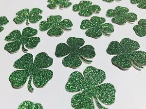 50 x four(4)leaf clover shamrock table confetti / lucky / Irish clover/ scatter