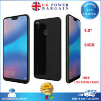 """Huawei P20 Lite 64GB 5.8"""" 16MP Unlocked 4G LTE Android Smartphone Blk- ANE-LX1"""