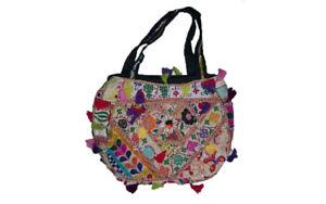 Bag old Vintage Banjara Bag Simple Hobo Round Shape Embroidery Ethnic tassel