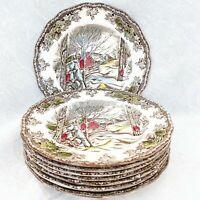 "8 pcs Vintage Johnson Brothers England Friendly Village Bread & Butter Plates 6"""