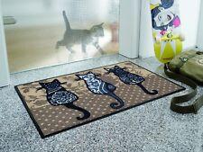 WMK wash+dry Fußmatte Design Katzenbande 50x75 cm Nr.068143