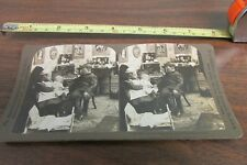 1904 ERA H.C. WHITE CO STEREOVIEW CARD OF YOUNG CHILDREN ACTING GROWN UP
