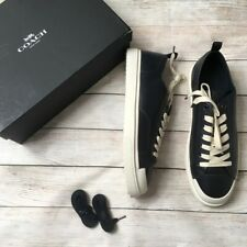 COACH | lo top navy sneakers leather 13 Mens Casual New in Box NWT Lace Up