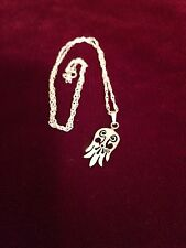 Silver PEACE DOVE BIRD WING CHARM PENDANT NECKLACE MARKED 925