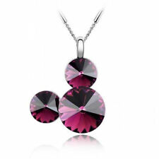 White Gold Plated Amethyst Fashion Necklaces & Pendants