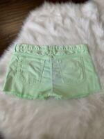 Current Elliott Denim Shorts Cut Off The Boyfriend Lime Green Womens 30 Raw Hem