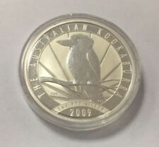 2009 Kookaburra 1oz Silver Bullion Coin. Mint, in capsule