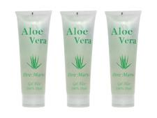 Aloe Vera Gel 100% Hautgel Feuchtigkeit trockene Haut Sonnenbrand Rasur 3x250 ml
