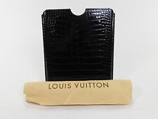 RARE $4,270 Louis Vuitton Crocodile Alligator Skin Black Leather iPad Case AC282