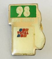 98 Super Premier Total Petrol Pump Bowser Advertising Pin Badge Vintage (C13)