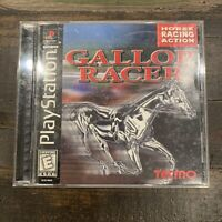 PS 1 Gallop Racer Horse Action Racetrack Jockey Video Game Playstation Disc