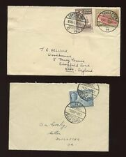 GOLD COAST HO POSTMARKS WIDE + NARROW SPACING 1952 +1955 COMMERCIAL FRANKING VFU