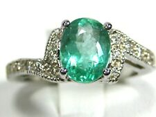 Emerald Ring Antique 18K white gold Ethiopian Certified Natural Heirloom $5,667