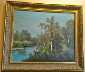 Pair of Antique Original Oil on Canvas Paintings. Signed. 1880. Europe.