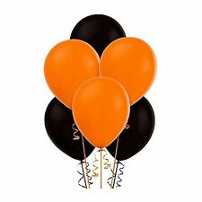 "15pack of 12"" Balloons Black and Orange Assorted Colour Halloween birthday etc."