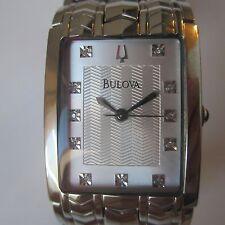 BULOVA MEN'S WATCH QUARTZ DIAMOND ALL S/S ORIGINAL JAPAN  NEW