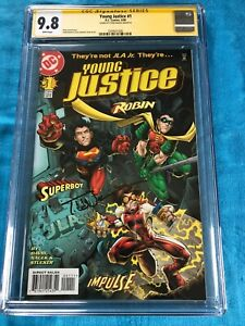 Young Justice #1 - DC - CGC SS 9.8 NM/MT - Signed by Todd Nauck