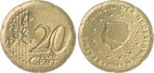Paesi Bassi 20 cent 2000 non inciso: VZ-prfr., pezzo grezzo troppo sottile, 4,01g