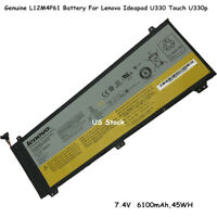 New Genuine 7.4V L12M4P61 Battery For Lenovo U330 U330P U330T Series Laptop 45WH