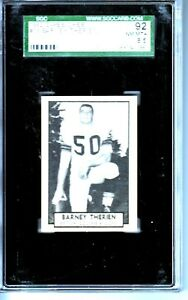 1962 O-PEE-CHEE #18 BARNEY THERIEN BRITISH COLUMBIA LIONS SGC 92=8.5 4088