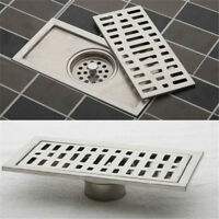 FD1990 Stainless Steel Bathroom Floor Drain Shower Square Floor Waste Grate