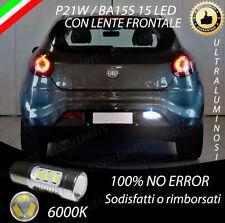 LAMPADA RETROMARCIA 15 LED P21W BA15S CANBUS PER FIAT BRAVO  6000K NO AVARIA