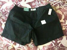 "NWT Old Navy Women's Shorts Black Size 12 w/ 5"" Inseam Cotton"