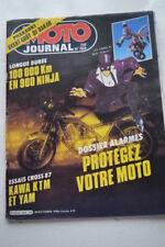 MOTO JOURNAL N°769 KAWASAKI KX 60 80 500, YAMAHA FZ 900 PARIS-DAKAR 490 YZ 1986