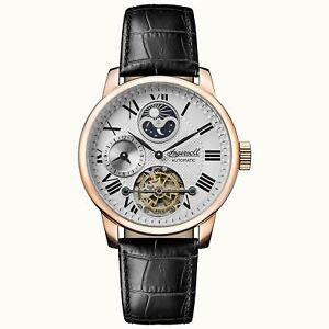 Ingersoll The Riff Automatic Silver Dial Black Leather Strap Men's Watch I07402