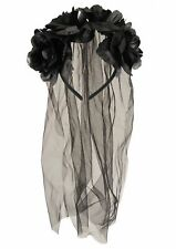Zombie Dead Corpse Bride Black Veil Headband Halloween Fancy Dress