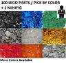 LEGO 100 PARTS LOT + 1 MINIFG YOU PICK COLOR 100x Creator Classic 100% LEGO