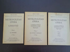 8 vintage opera libretti, published by The Met & Program Publ '40-50s Inv2358
