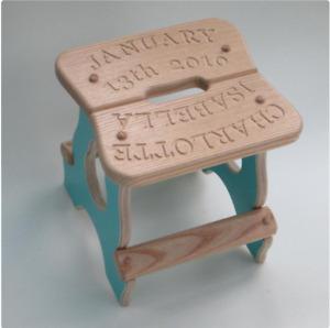 Personalise children's stool;new baby stool