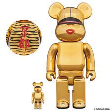 Medicom TYGA SORAYAMA HAJIME SEXY ROBOT BE@RBRICK Gold 100% & 400% bearbrick