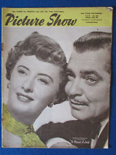 Picture Show Magazine - 10/2/1951 - Barbara Stanwyck & Clark Gable Cover