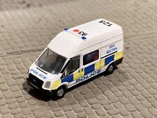 N Gauge Police Transit Van, Car, BTP, Code 3, Oxford Diecast, 1:148, Boxed