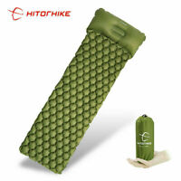 *SLEEPING PAD CAMP MAT WITH PILLOW AIR MATTRESS EDC INFLATABLE OUTDOOR HUNT USA*