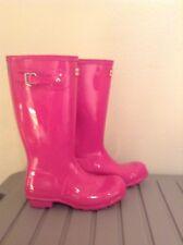 HUNTER Pink Gloss Rubber Rain Boots - Sz 6