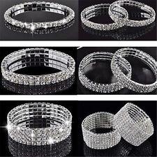 Elastic Crystal Rhinestone Stretch Wristband Bangle Bracelet Wedding Bridal gift