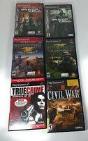 PlayStation 2 Game Bundle Socom Navy Seals Splinter Cell Civil War True Crime