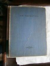 """Vintage Old Hardback Book """" Air Navigation """" 1941 Volume 1 + Charts Graphs"""